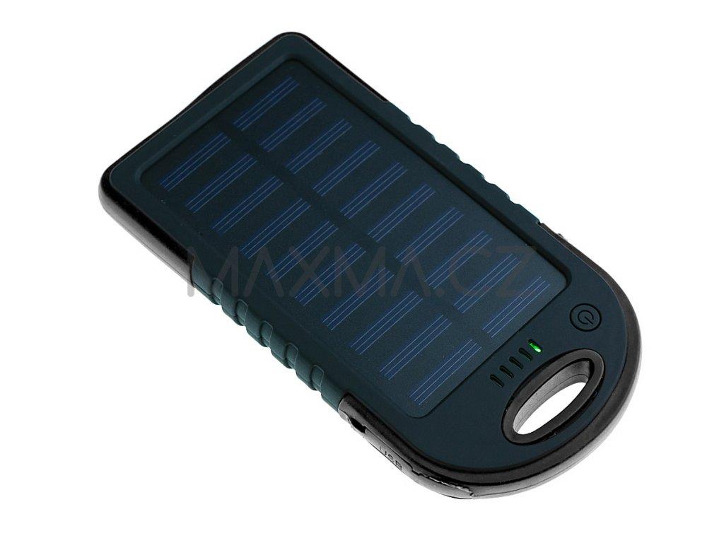 Techfuerza solární powerbanka 10000 mAh - černá