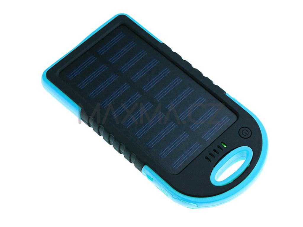 Techfuerza solární powerbanka 10000 mAh - černá/modrá