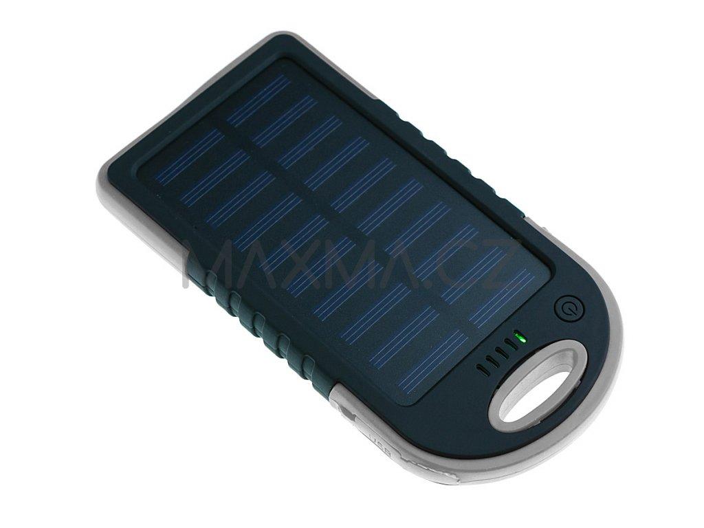 Techfuerza solární powerbanka 10000 mAh - černá/šedá