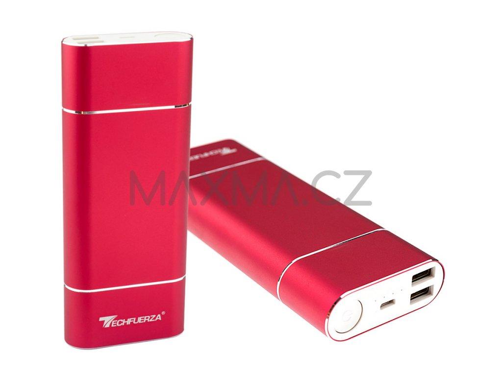 Techfuerza powerbanka 15800 mAh (Z-035) - červená