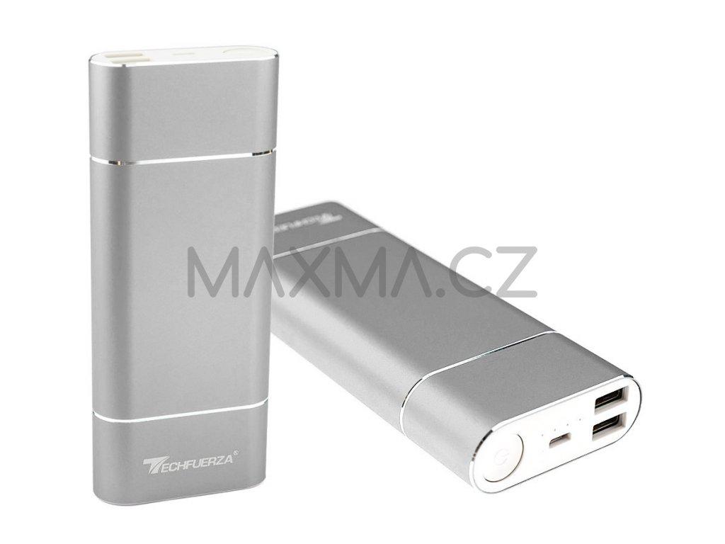 Techfuerza powerbanka 15800 mAh (Z-035) - stříbrná