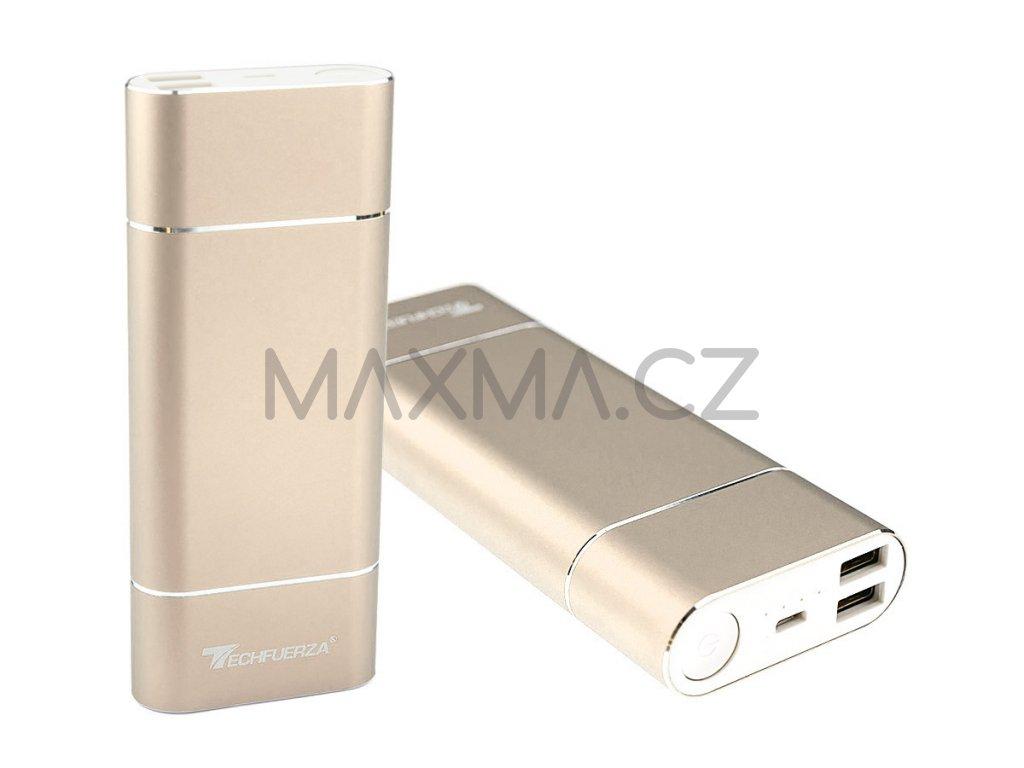 Techfuerza powerbanka 15800 mAh (Z-035) - zlatá