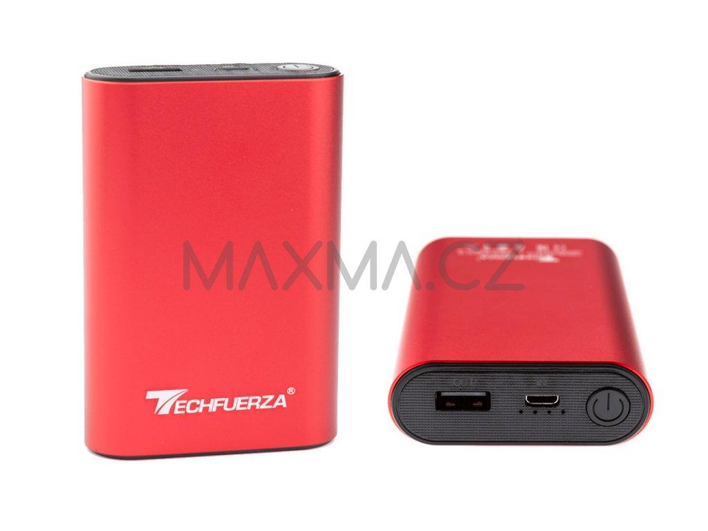 Techfuerza powerbanka 10400 mAh (Z-092) - červená