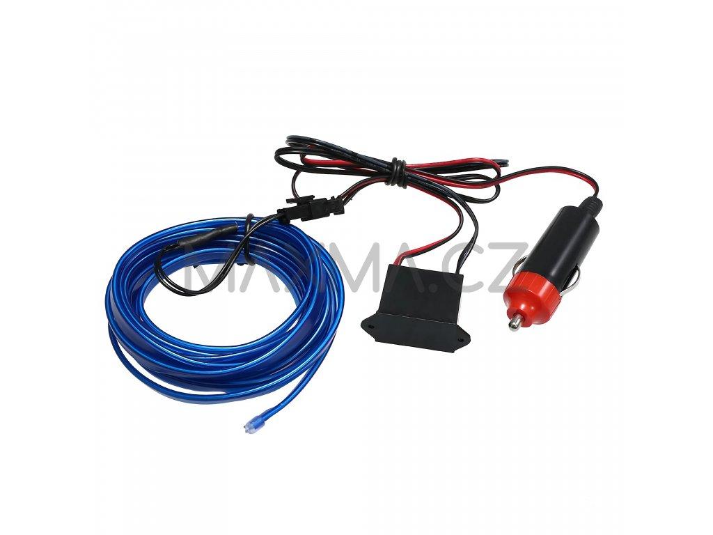LED svítící pásek do auta 3m Modrá