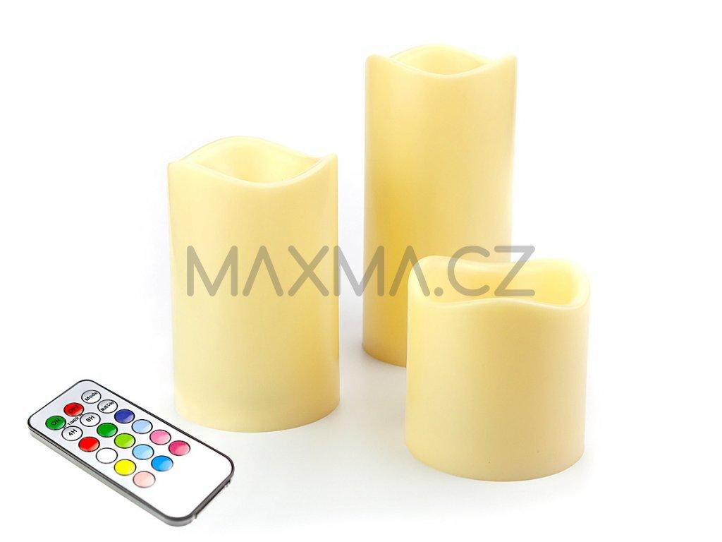 LED Svíčka 3 kusy - měnící se barvy