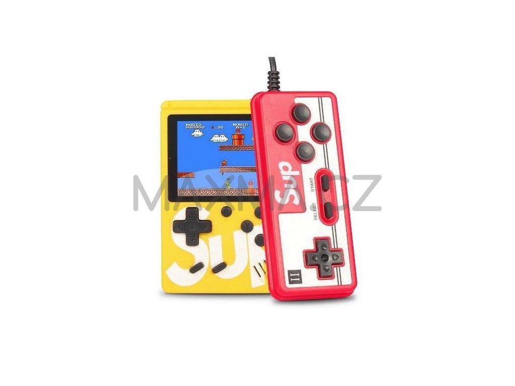 Herní konzole SUP GAMEBOX 400v1 s ovladačem (MULTIPLAYER) - žlutá