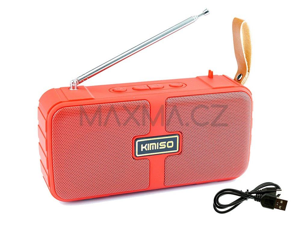 Kimiso Bluetooth reproduktor (KMS-303) - Červený