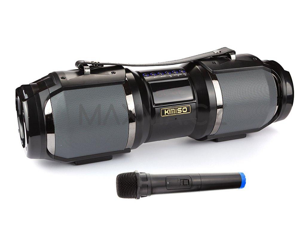Kimiso Přenosný Bluetooth reproduktor (T1S) - Černo/šedivá