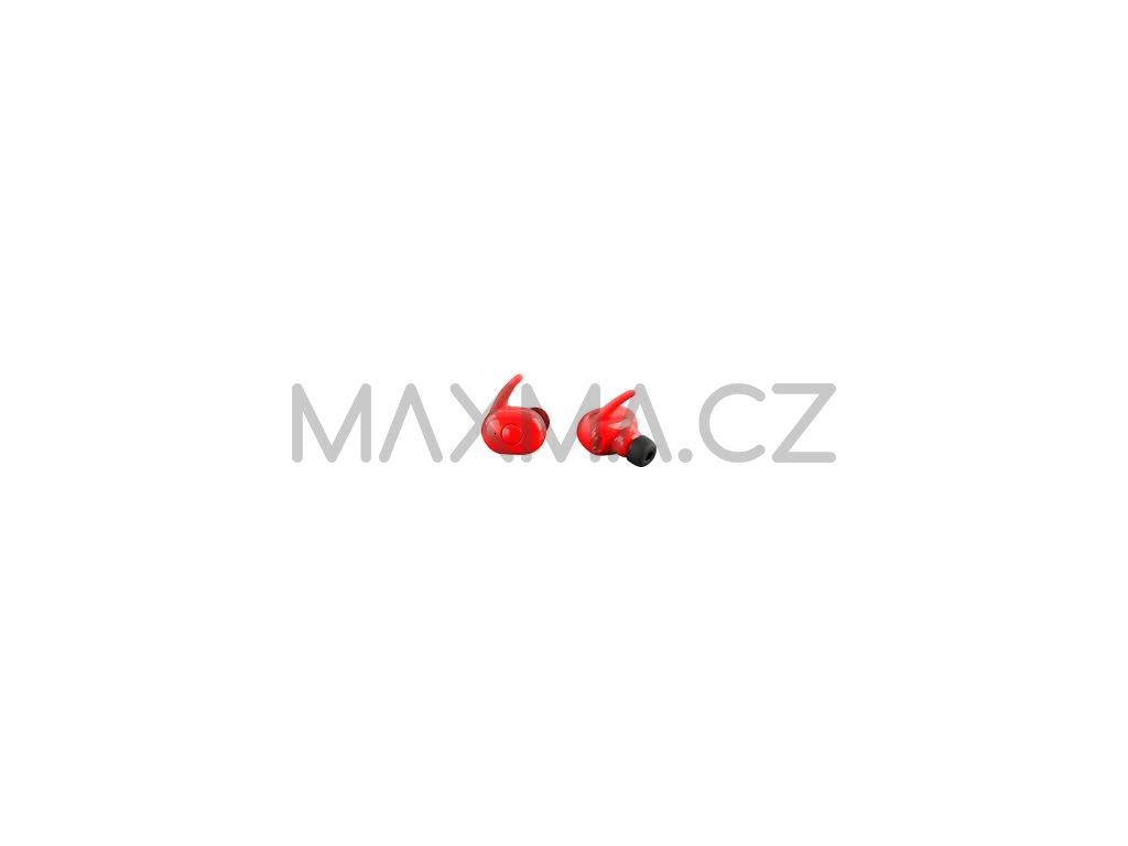 Bezdrátová bluetooth sluchátka TWS AKZ-W4 - Červená