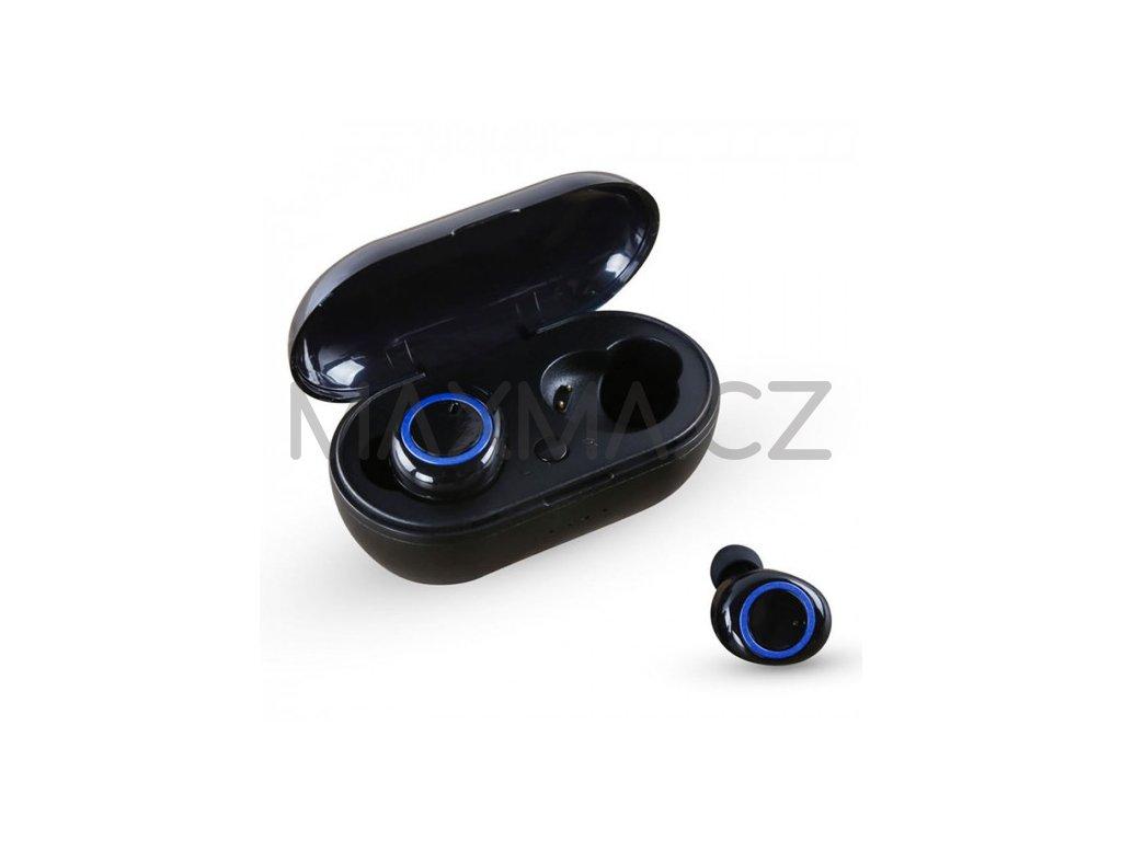 Bezdrátová bluetooth sluchátka TWS AKZ-W8 - modrá