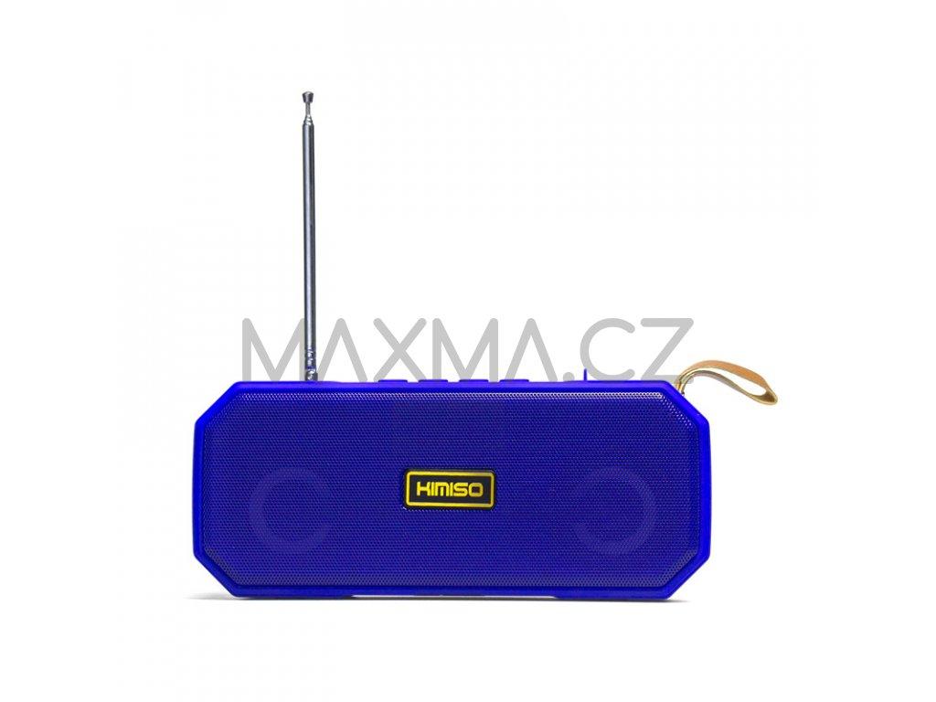 Kimiso Bluetooth rádio reproduktor (KMS-221) - modrý