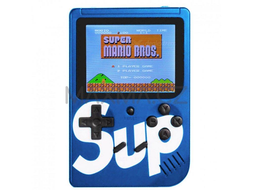 Herní konzole SUP GAMEBOX - 400v1 - modrá