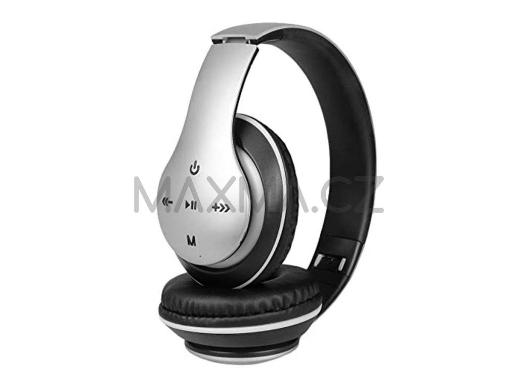 Bezdrátová sluchátka (P351) - stříbrná
