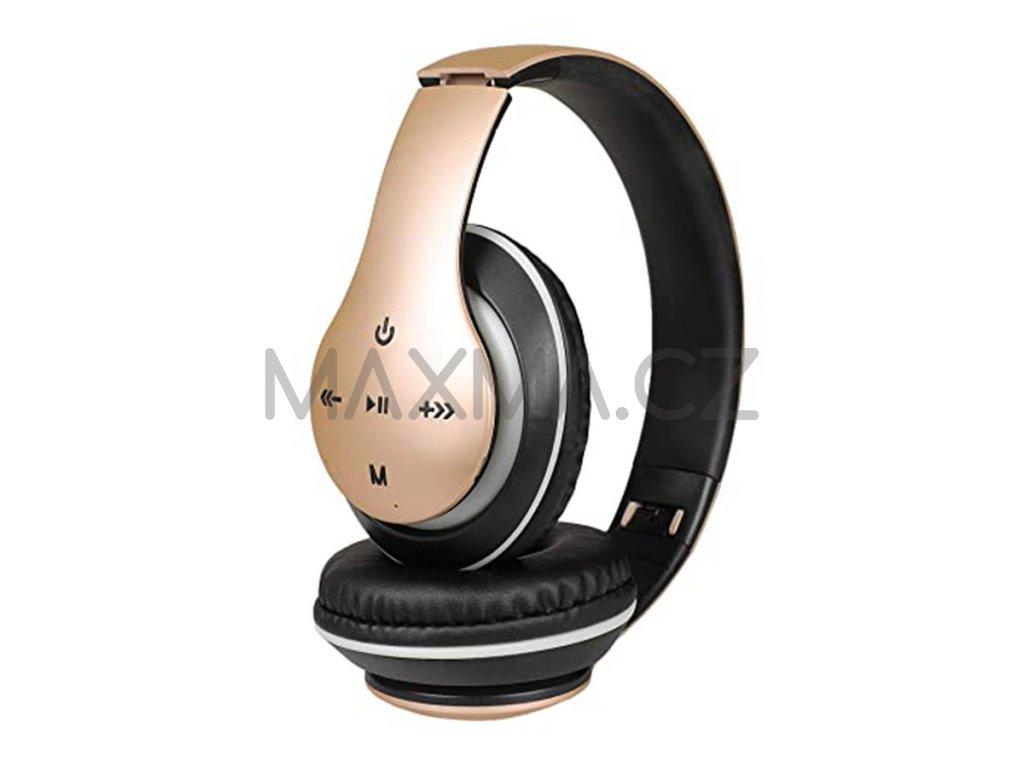 Bezdrátová sluchátka (P351) - zlatá