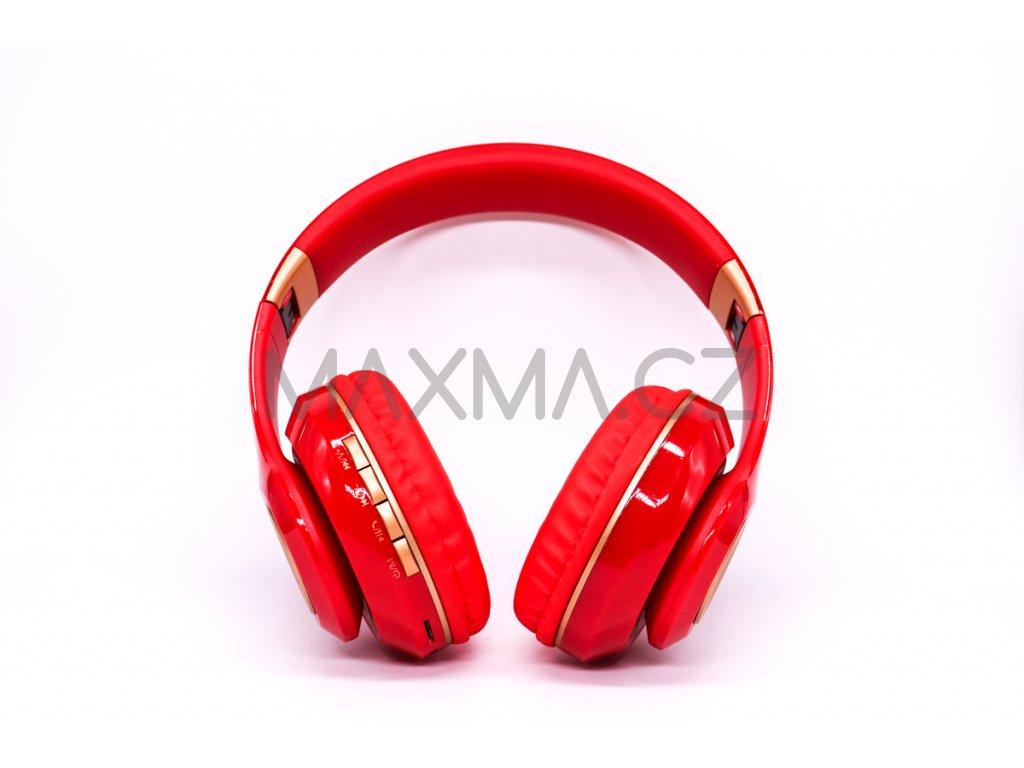 Bezdrátová sluchátka (PV33) - červená