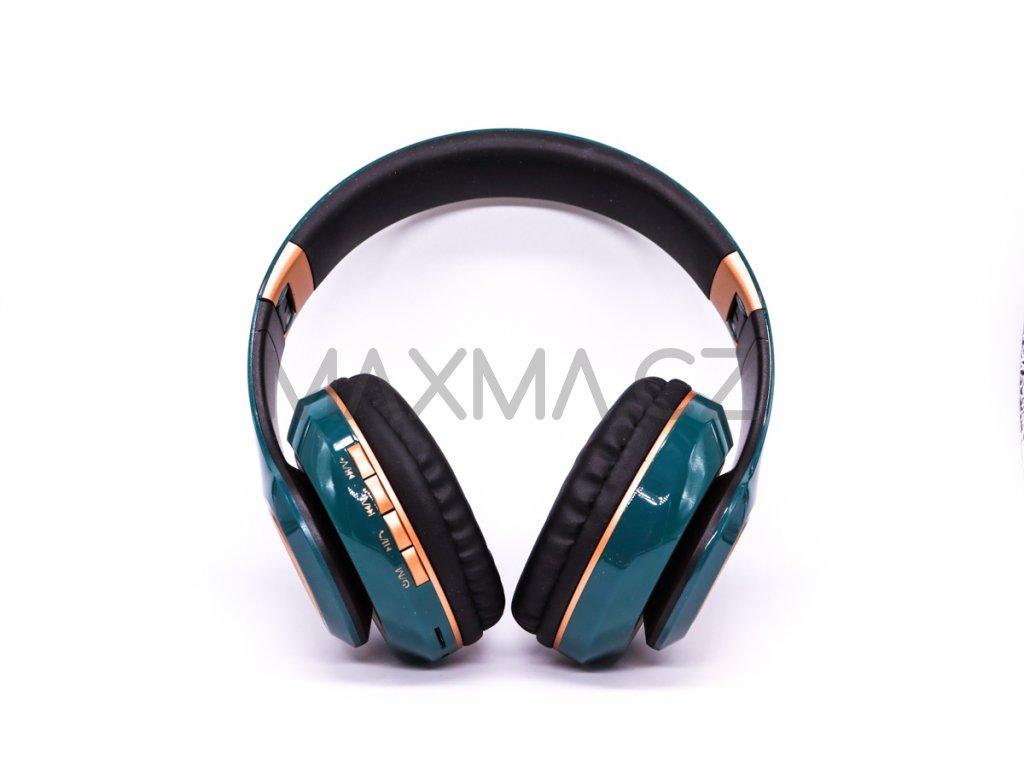 Bezdrátová sluchátka (PV33) - zelená