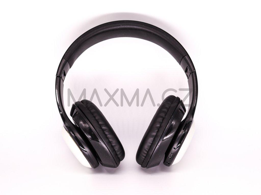 Bezdrátová sluchátka s LED osvětlením (PV57) - černá