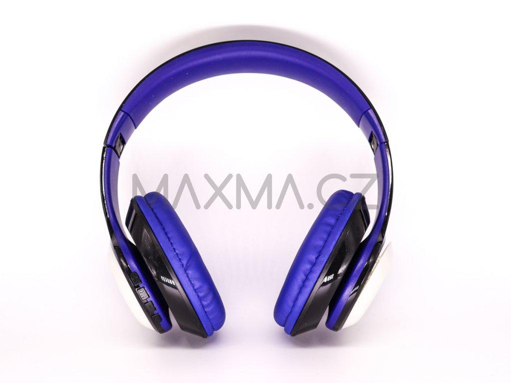Bezdrátová sluchátka s LED osvětlením (PV57) - modrá
