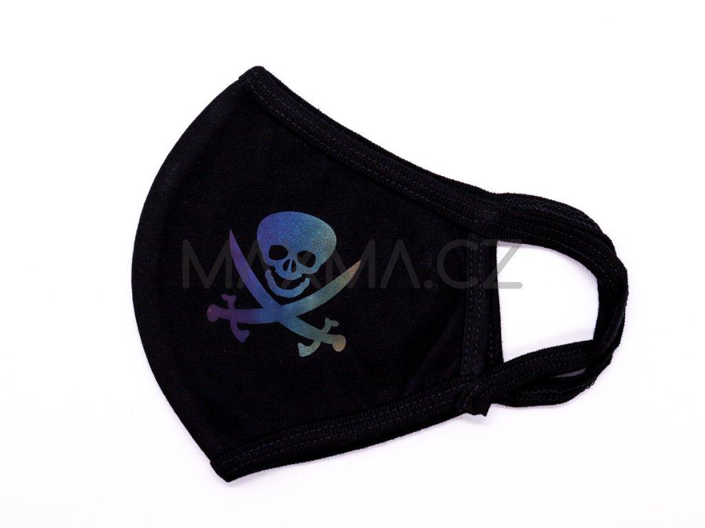 Bavlněná rouška Pirát