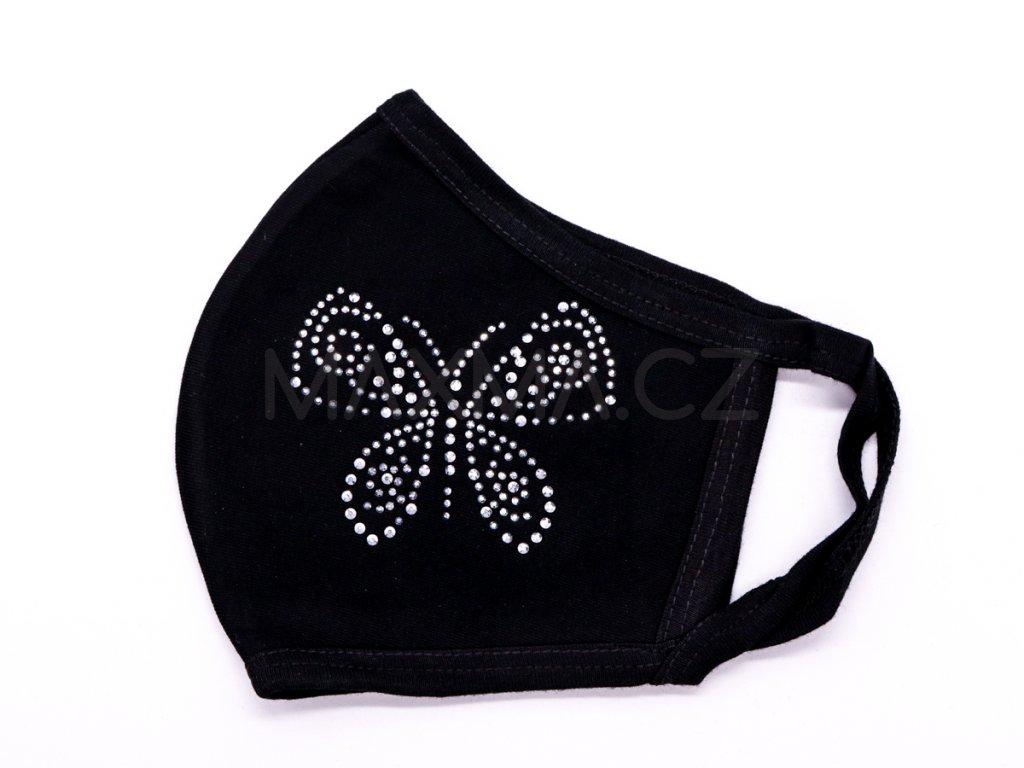 Bavlněná rouška Motýl