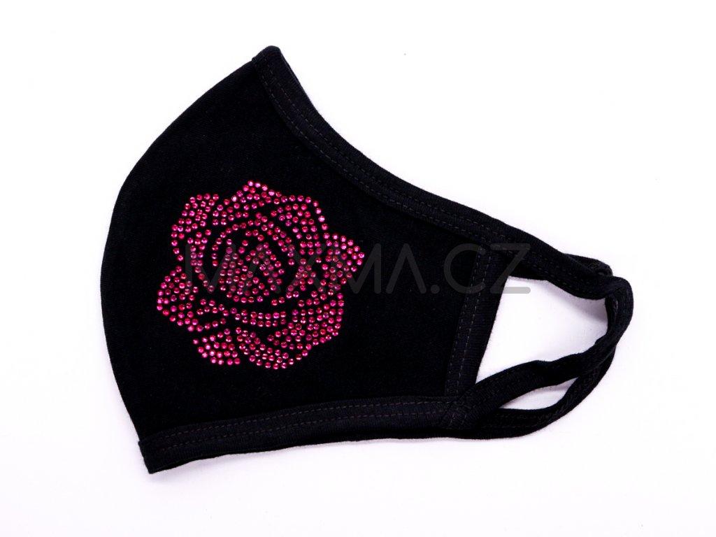 Bavlněná rouška Růže