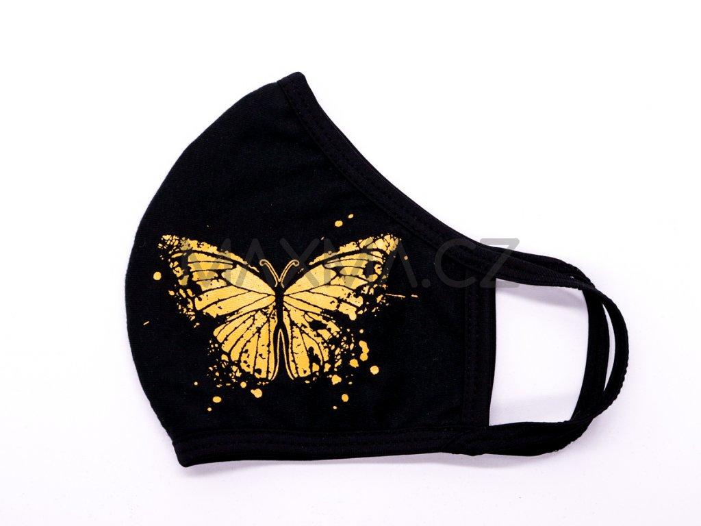 Bavlněná rouška Motýl 3