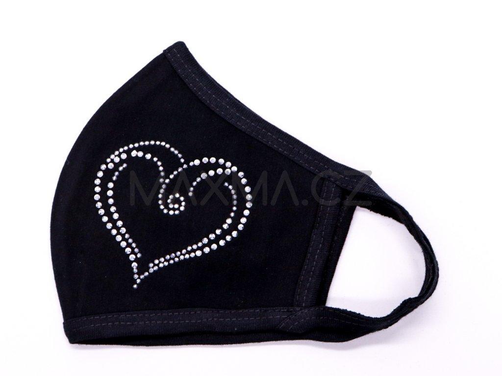 Bavlněná rouška Srdce 5
