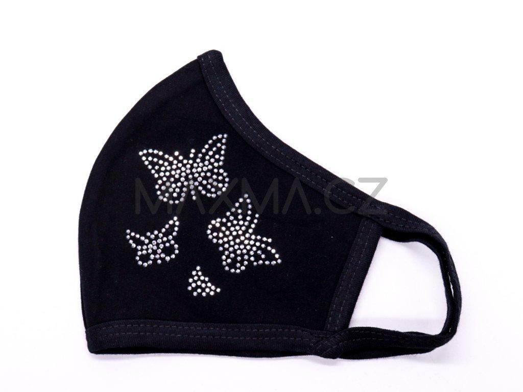 Bavlněná rouška Motýl 4