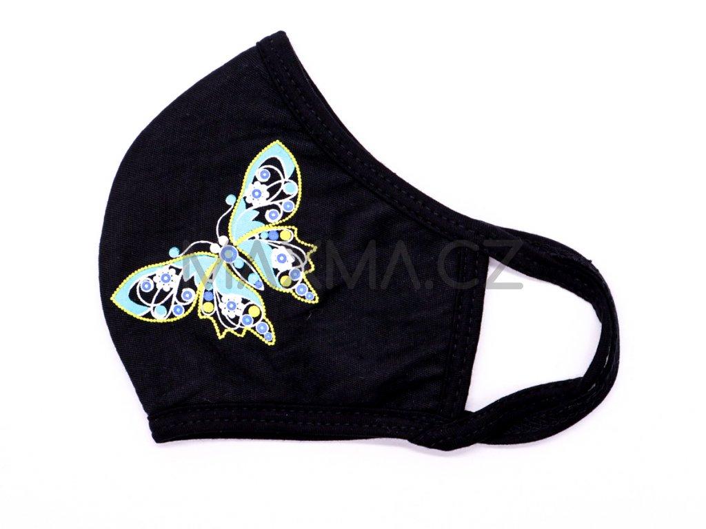 Bavlněná rouška Motýl 6