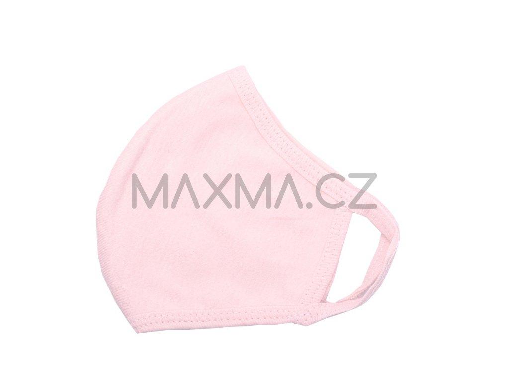 Bavlněná rouška - růžová