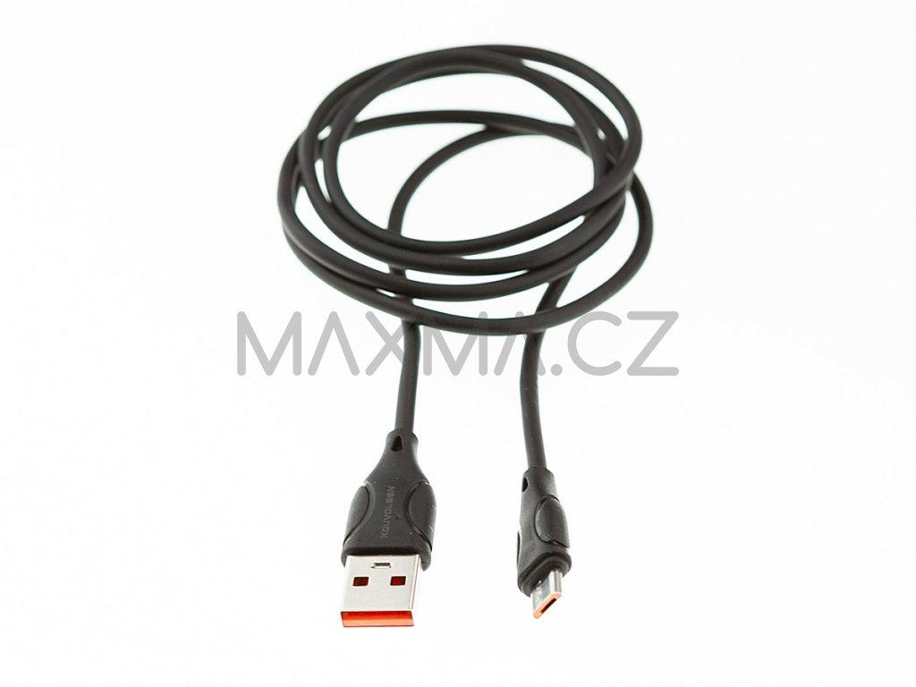 Kouvolsen kabel USB / micro-USB (X19) 1m - černý