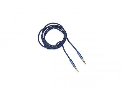 Kouvolsen audio kabel 2x 3,5 mm jack (M2-0706) 1m - modrý