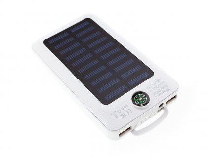 Techfuerza solární powerbanka 22000 mAh s kompasem - bílá
