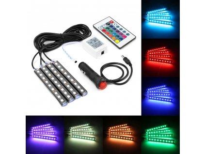 LED RGB osvětlení do aut s dálkovým ovládáním