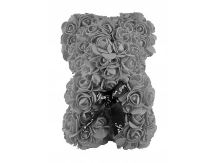 Medvídek z růží šedý 35cm