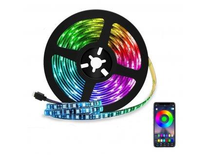 FOYU RGB LED pásky 5050 5 m Bluetooth