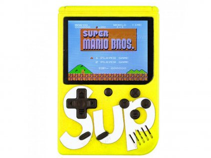 Herní konzole SUP GAMEBOX - 400v1 - žlutá