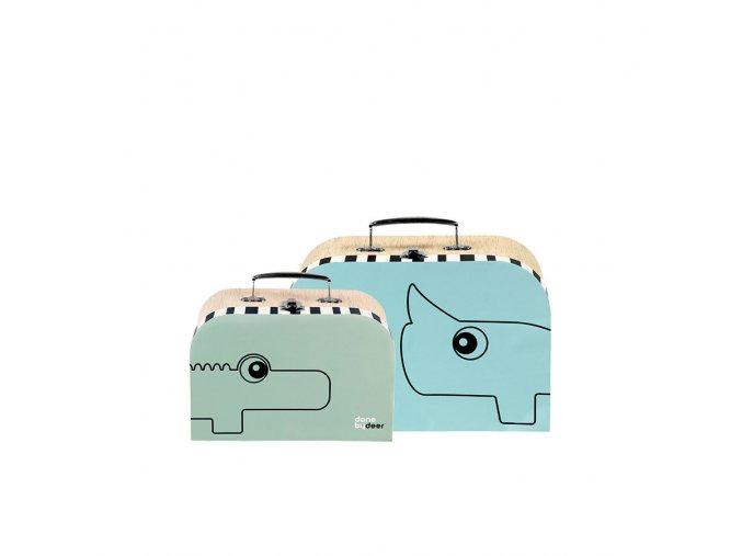 Set kufříků - 2 ks - modrá/zelená