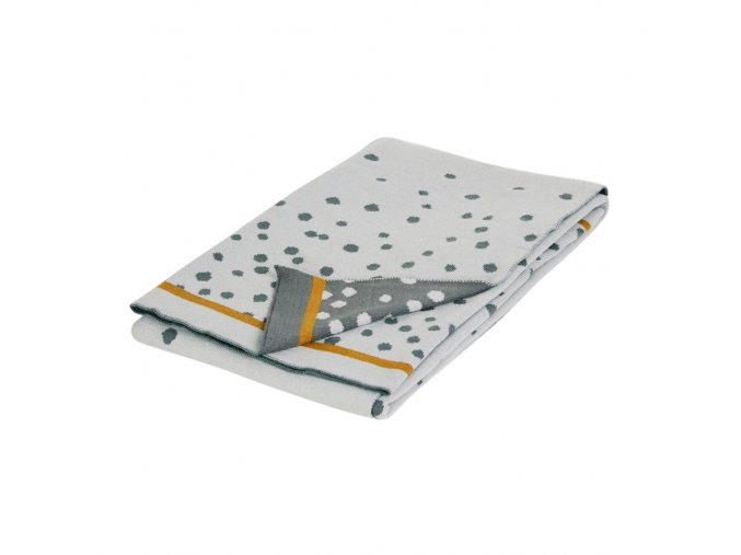 Pletená deka Happy dots, šedá