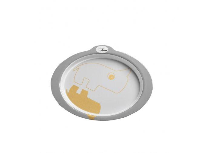 Protiskluzový talíř s úchyty Contour - zlatá/šedá