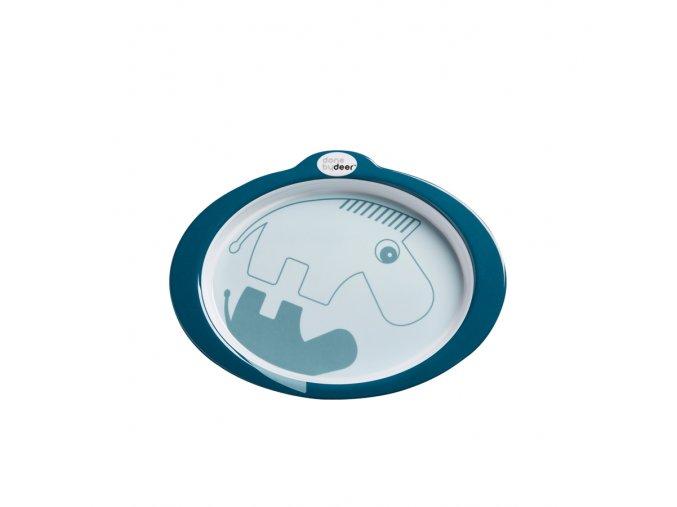 Protiskluzový talíř s úchyty Contour - tmavě modrá