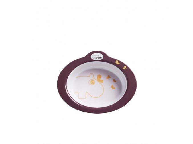Protiskluzová miska s úchyty Contour - tmavě růžová