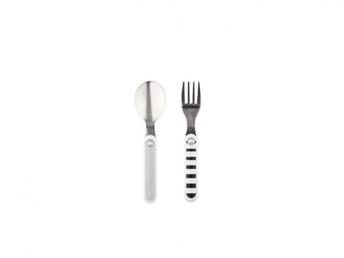 Set lžíce a vidličky Contour - šedý