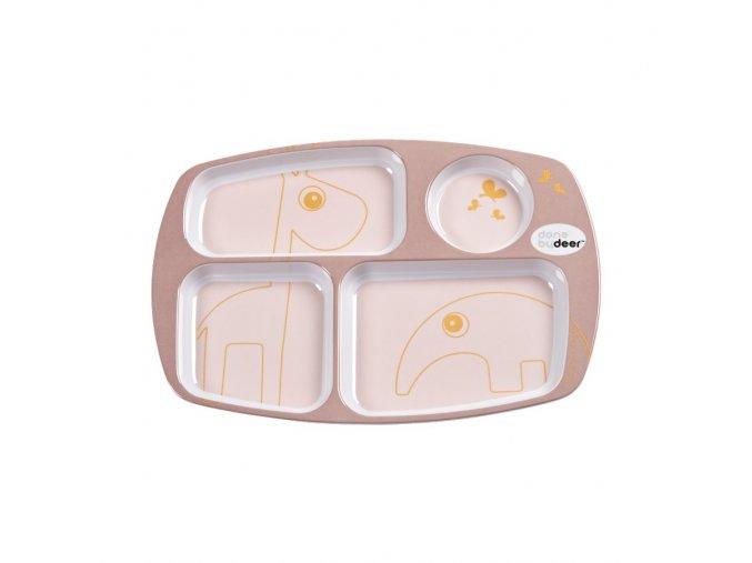 Dělený talíř Contour - růžový