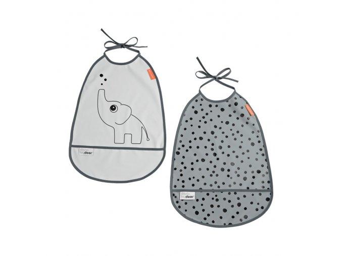 Set 2ks bryndáčků Elphee - odstíny šedé