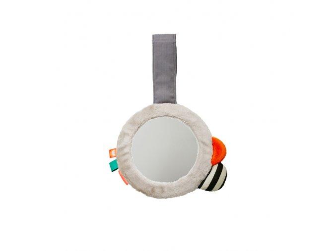 Zrcátko s klipem - šedé