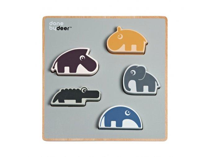 Dřevěné hrací puzzle Chunky