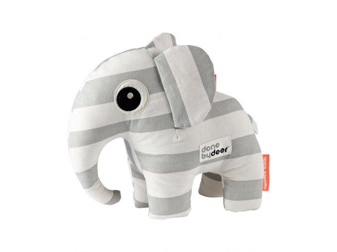 Mazlivá hračka Elphee - šedé proužky