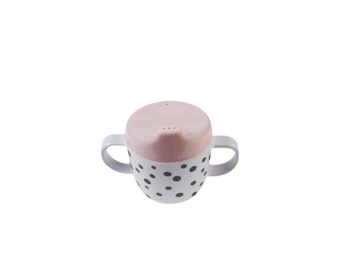 Hrníček Happy Dots s oušky - růžový