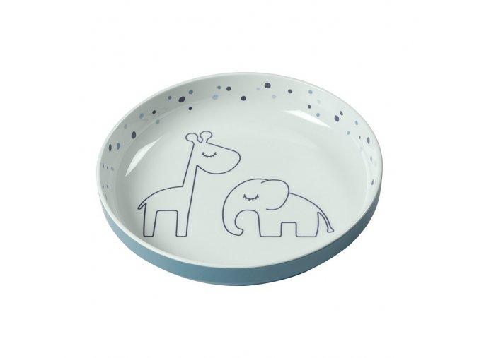 Yummy mini talíř Dreamy dots - modrý